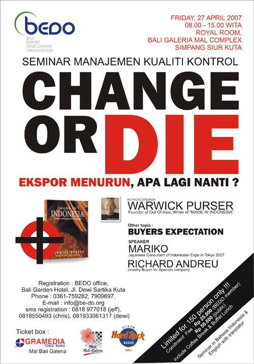 Change or Die - Seminar on Quality Management Systems